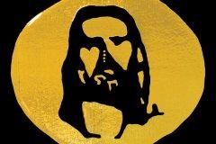 17X17예수님얼굴(금박)